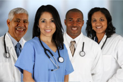 Nurses and a doctor
